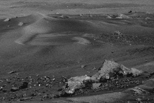 Sanblown Conical Structure  - Panoramic Camera Sol 581